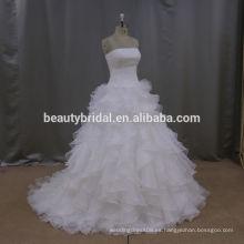 Moderno taobao de marfil occidental express corto país vestidos de novia
