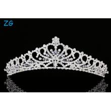 Flower Heart Pattern Rhinestone Crystal Bridal Tiara Crown