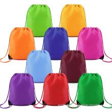 china manufacturer custom small eco friendly printed travel sport waterproof nylon drawstring bag for men