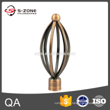 Line shape iron rod finials for curtains