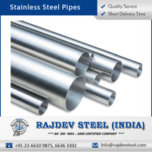 Tubo de acero inoxidable estándar de calidad genuina con larga vida de servicio
