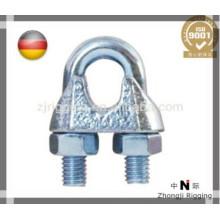 Les accessoires de corde de fil DIN741 sont clip de corde de fil d'acier électro-galvanisé de haute qualité