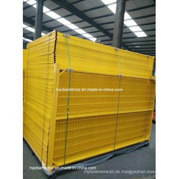 6ftx10FT beweglicher PVC überzogener Kanada temporärer Zaun