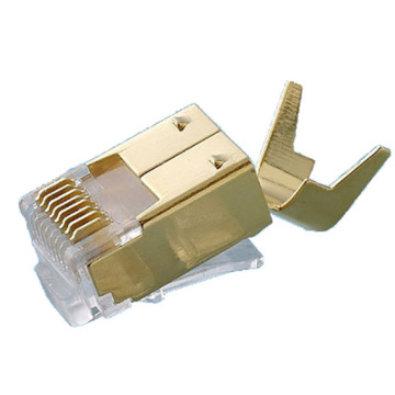 Conector 8P8C FTP CAT6 4UP 4DOWN Corpo curto