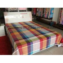 Têxtil Home algodão confortável impresso tecido Bedsheet atacado