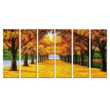 Dropship otoño árboles de belleza giclee prints for home decor 6pcs set
