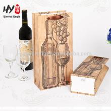 Logotipo impresso saco de vinho de embalagem de papel personalizado