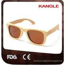 2017 italy design original color with spring hinge skateboard wood sunglasses