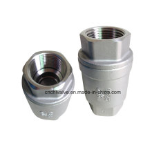 Válvula de retenção com mola vertical em aço inoxidável H12