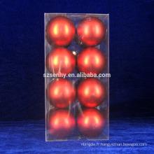 Red Hot Shatterproof 4-Finish Christmas Ball Decoration