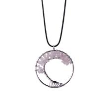 Ожерелье из драгоценного камня с кварцевой проволокой