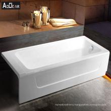 Aokeliya 1600mm acrylic back to wall bath tub and bathtub for favors with low threshold