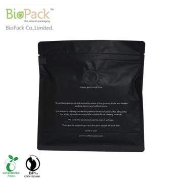 Beg Kopi Berdiri Custom Compostable Printed With Valve