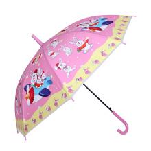 Auto Open conejo impresión paraguas rosa niños (SK-01)