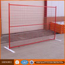 Panneaux de clôture temporaires portables en PVC