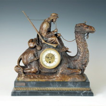 Clock Statue Elder Camel Bronze Sculpture Tpc-012