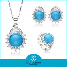 Venda de jóias de prata de safira de moda em linha (j-0140)