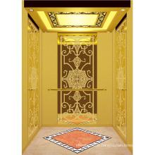 Ascenseur d'ascenseur de passager de haute qualité miroir d'or gravé Aksen Ty-K158