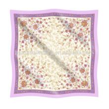 Pañuelo de flores patrón de seda de gasa pantalla impresa pañuelo