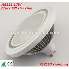 CE RoHS утверждения Epistar Led Chip 12w SMD5630 ar111 Светодиодный прожектор G53 / Gu10