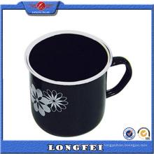 Copo de café feito sob encomenda do logotipo da forma preta da cor