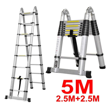 Aluminium Telescopic double step step ladder