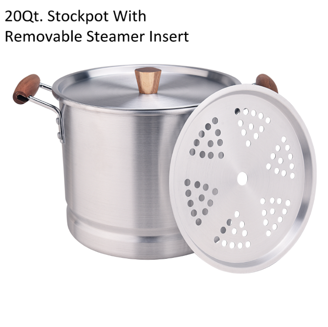 20qt Stockpot With Removable Steamer Insert