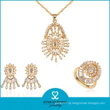 Fabricante de fábrica de qualidade superior conjunto de colar de cores de ouro (J-0057)