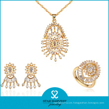 Conjunto de collar de colores dorado de fábrica de calidad superior (J-0057)