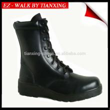 Wasserdichte Militärstiefel mit schwarzer Leder- und Gummisohle