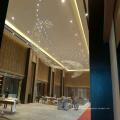 Lámpara de lujo moderna Crystal Squar Pentand con Projece Hotel