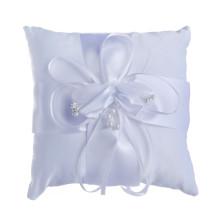 Alta qualidade lindo casamento bordado decoração anel portador travesseiro