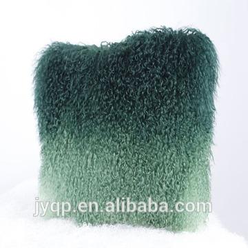 Atacado 45x45 cm Natural e tingidos cor Tibet cordeiro Almofada