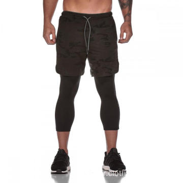 Short de course avec short de compression interne