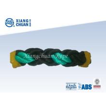 Black and Green Polypropylene Fiber Mooring Rope