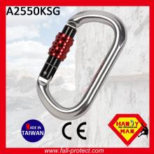 O Form Bergsteigen Wandern CE Zertifizierter Aluminium Karabiner