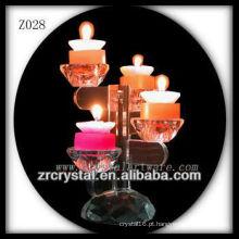 Suporte de vela de cristal popular Z028