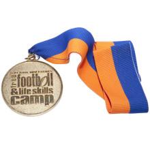 Medalla de aleación de zinc diseñada para eventos con efecto de chorro de arena
