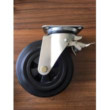 8 inch rubber wheel caster for waste bin