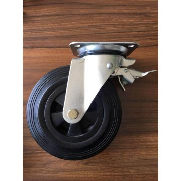 6 '' waster bins caster rubber wheel