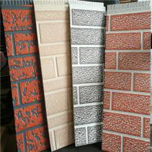 Painéis de parede de tijolo ao ar livre com isolamento de metal