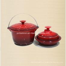 Набор посуды из 2 литров чугунной посуды