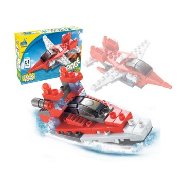 Block Flying Helicopter Toy and Ship