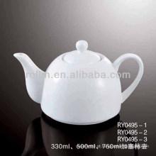 Saudável, durável, branca, porcelana, forno, segura, bule, com, tampa