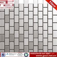 foshan factory supply rectangle stainless steel mosaic tile for wall design