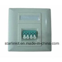 4 Port Fiber Faceplate Compatible for Sc, LC, FC, St