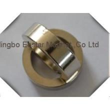 N48 Grande taille Zinc enduit anneau néodyme aimants permanents
