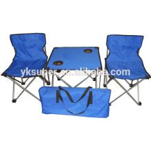 Mesa e mesas de piquenique plegáveis fáceis para acampamento e piquenique ao ar livre