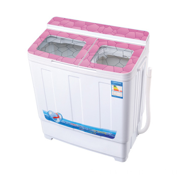 Pink Glass Cover 6KG Twin Tub Waschmaschine