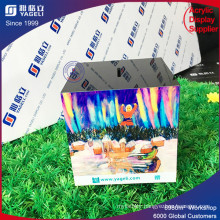 2017 Latest Romantic Style Colorful Acrylic Donation Box with Lock